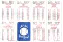 1954 APBA (Reprint) Season - BROOKLYN DODGERS Team Set