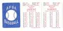 1954 APBA (Reprint) Season - PHILADELPHIA PHILLIES Team Set