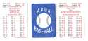 1954 APBA (Reprint) Season - ST LOUIS CARDINALS Team Set