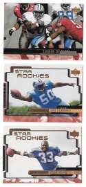 1999 Upper Deck (1-270) Football Team Set - DETROIT LIONS