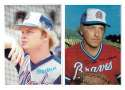 1980 Topps Super (5x7) Gray Backs - ATLANTA BRAVES Team Set