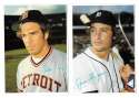 1980 Topps Super (5x7) Gray Backs - DETROIT TIGERS Team Set