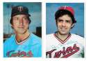 1980 Topps Super (5x7) Gray Backs - MINNESOTA TWINS Team Set