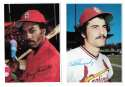 1980 Topps Super (5x7) Gray Backs - ST LOUIS CARDINALS Team Set