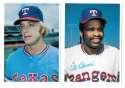 1980 Topps Super (5x7) Gray Backs - TEXAS RANGERS Team Set