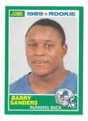 1989 Score Football Team Set - DETROIT LIONS w/ Barry Sanders RC B