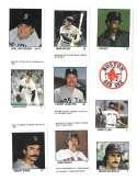 1983 Fleer Stamps BOSTON RED SOX Team Set
