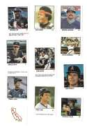 1983 Fleer Stamps CALIFORNIA ANGELS Team set