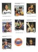 1983 Fleer Stamps HOUSTON ASTROS Team set