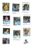 1983 Fleer Stamps KANSAS CITY ROYALS Team Set