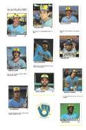 1983 Fleer Stamps MILWAUKEE BREWERS Team Set