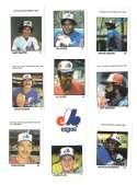 1983 Fleer Stamps MONTREAL EXPOS Team Set