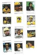 1983 Fleer Stamps PITTSBURGH PIRATES Team Set