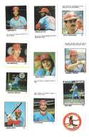 1983 Fleer Stamps ST LOUIS CARDINALS Team Set