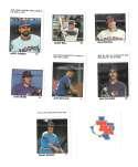 1983 Fleer Stamps TEXAS RANGERS Team Set
