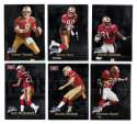 1998 Fleer Brilliants (1-150) Football - SAN FRANCISCO 49ERS