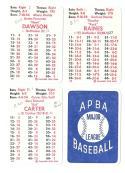 1984 APBA Season w/ Extra Players written on - MONTREAL EXPOS Team Set