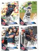 2016 Topps Walmart Holiday Snowflake - CLEVELAND INDIANS Team Set