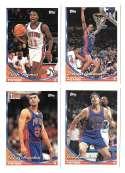 1993-94 Topps Basketball Team Set - Detroit Pistons