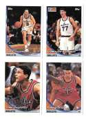 1993-94 Topps Basketball Team Set - Washington Bullets