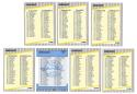 1989 Fleer Glossy - 7 card Checklist set