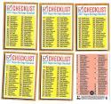 2011 Topps Heritage - 6 card Checklist set