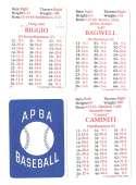 1992 APBA Season w/ EX Players (Some Writing) HOUSTON ASTROS Team Set