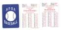1992 APBA Season w/ EX Players (Some Writing) LOS ANGELES DODGERS Team Set