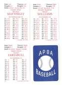 1992 APBA Season w/ EX Players (Some Writing) NEW YORK YANKEES Team Set