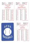 1992 APBA Season w/ EX Players (Some Writing) SAN DIEGO PADRES Team Set