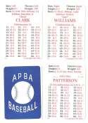 1992 APBA Season w/ EX Players (Some Writing) SAN FRANCISCO GIANTS Team Set