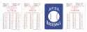 1991 APBA Season w/ EX Players Some writing - TORONTO BLUE JAYS Team Set