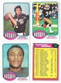 1976 Topps Football Team Set (EX) - CLEVELAND BROWNS