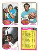 1976 Topps Football Team Set (EX) - DETROIT LIONS