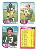 1976 Topps Football Team Set (EX) - GREEN BAY PACKERS