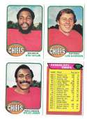 1976 Topps Football Team Set (EX) - KANSAS CITY CHIEFS