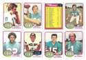 1976 Topps Football Team Set (EX) - MIAMI DOLPHINS