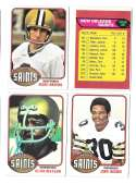 1976 Topps Football Team Set (EX) - NEW ORLEANS SAINTS