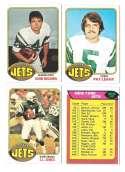 1976 Topps Football Team Set (EX) - NEW YORK JETS