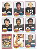 1976 Topps Football Team Set (EX) - PITTSBURGH STEELERS