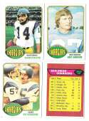1976 Topps Football Team Set (EX) - SAN DIEGO CHARGERS