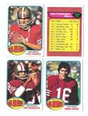 1976 Topps Football Team Set (EX) - SAN FRANCISCO 49ERS
