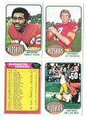 1976 Topps Football Team Set (EX) - WASHINGTON REDSKINS