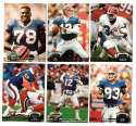 1992 Topps Stadium Club (1-700) Football Team Set - BUFFALO BILLS