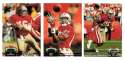 1992 Topps Stadium Club (1-700) Football Team Set - SAN FRANCISCO 49ERS