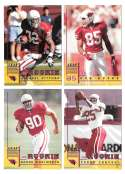 1998 Leaf Rookies and Stars Football (1-300) Team Set - ARIZONA CARDINALS