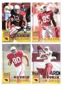 1998 Leaf Rookies and Stars Football (1-300) Team Set - ARIZONA CARDINALS