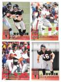 1998 Leaf Rookies and Stars Football (1-300) Team Set - ATLANTA FALCONS