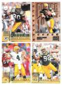 1998 Leaf Rookies and Stars Football (1-300) Team Set - GREEN BAY PACKERS