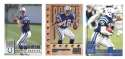 1998 Leaf Rookies and Stars Football (1-300) Team Set - INDIANAPOLIS COLTS